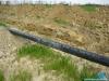 Budowa gazociągu wysokiego ciśnienia DN150 Karmin-Jarocin; Gazociąg wykonywany jest z rur stalowych izolowanych trójwarstwową izolacją polietylenową – 3LPE wg DIN 30670.