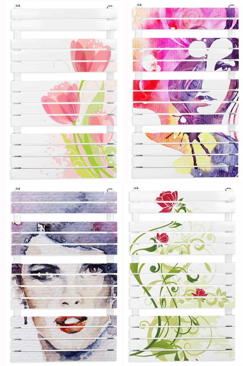 Grzejnik dekoracyjny drabinkowy z motywem kwiatowym firmy PIONIER - PŁG-ART fot. PIONIER - PŁG-ART