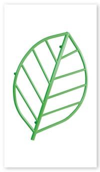 Grzejnik dekoracyjny w formie liścia firmy Radeco – Hoja fot. www.radeco.com.pl