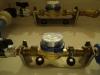 Instalacja wodna - wodomierz Powogaz JS2,5 zamontowany na konsoli wodomierzowej