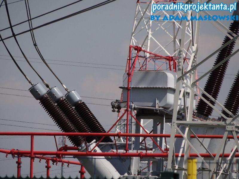 Instalacja zraszaczowa - instalacja przewodów gaśniczych ze zraszaczami (czerwony kolor rurociągów), instalacja pilotująca wykrywcza (niebieski kolor rurociągów)
