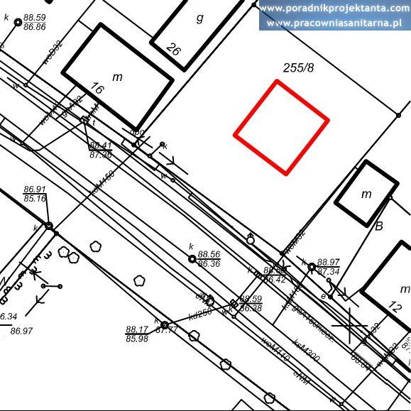 Mapa do celów projektowych, szkic domu jednorodzinnego