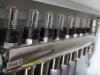 Centralne ogrzewanie - rozdzielacz ogrzewania podłogowego, wyposażony we wskaźniki przepływu, rotametry wyskalowane w l/min