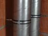 Kanał wentylacyjny stalowy SPIRO - mocowanie kanałów