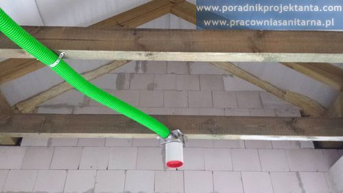 Kanał nawiewny instalacji wentylacji mechanicznej w domu jednorodzinnym