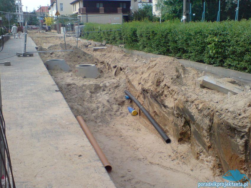 Lokalizacja infrastruktury w wąskiej ulicy