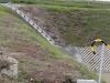 Zbiornik retencyjny Odwodnienie Autostrady A2 - Ściek skarpowy wprowadzony bezpośredno do zbiornika