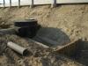 Studzienka osadnikowa przed wlotem do zbiornika oraz grodze podczyszczające
