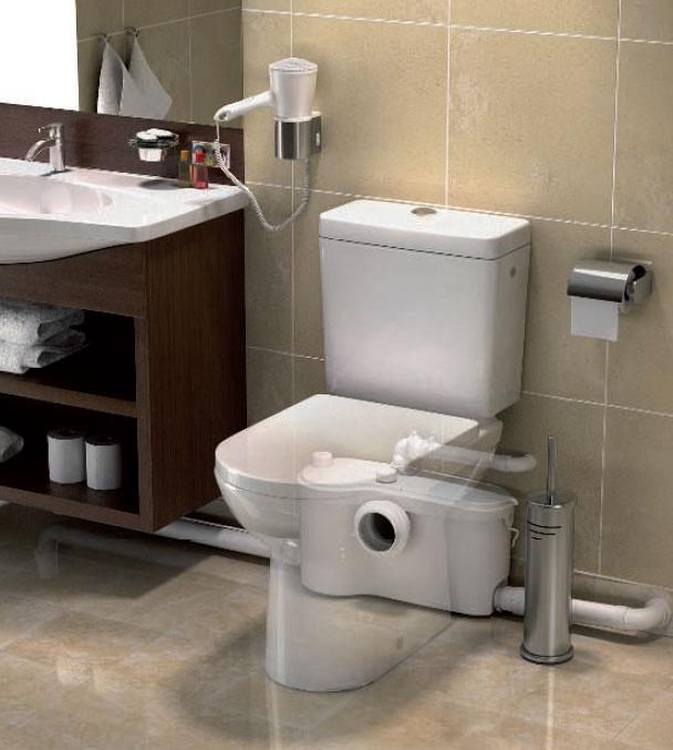 Przepompownia ścieków do instalacji wewnętrznej za miską ustępową lub pod umywalką for. Katalog produktów firmy SFA www.sfapoland.pl