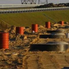 Erozja wodna przy budowie dróg i kanalizacji