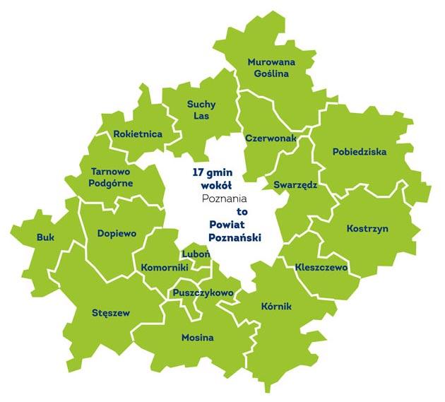 Mapa powiatu poznańskiego