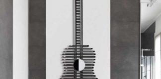 Grzejnik w kształcie gitary firmy MIKA - PLUS SI-1 fot. MIKA