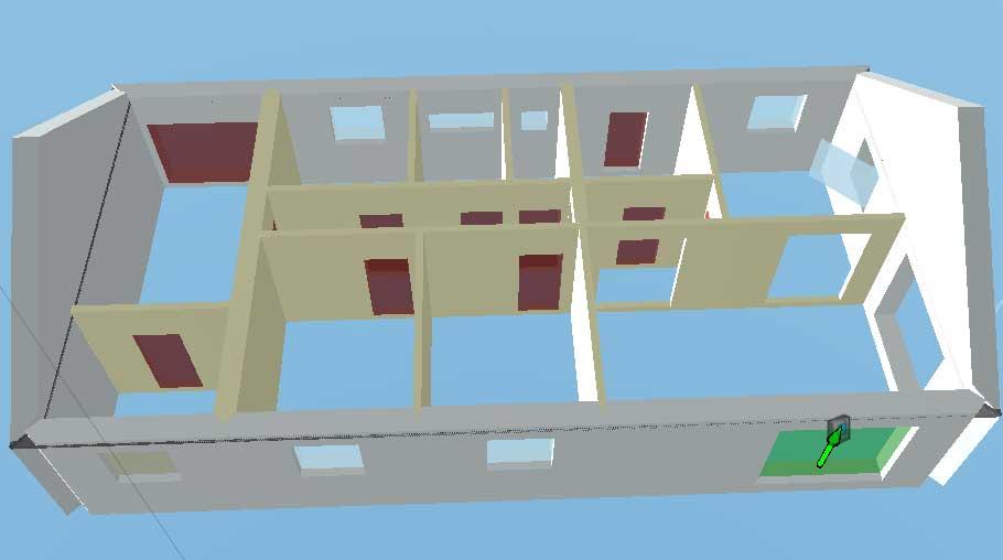 Wizualizacja 3D domu mieszkalnego jednorodzinnego o pow. 120m2