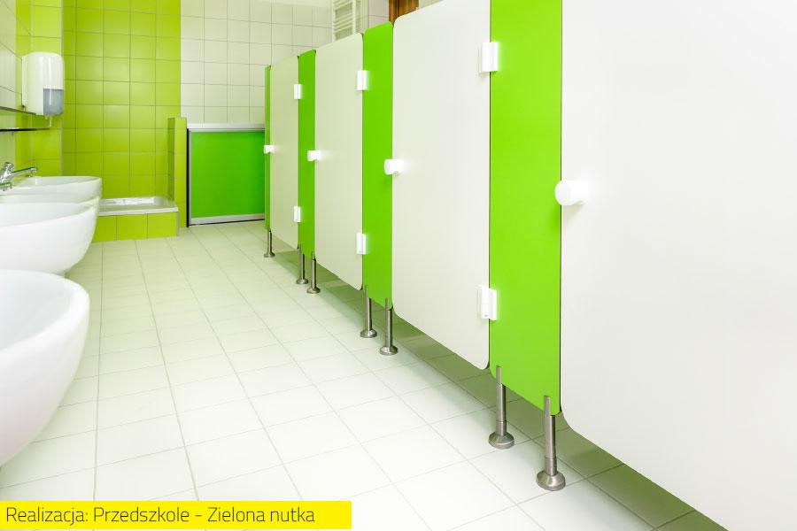 Kabiny sanitarne dla najmłodszych - Przedszkole Zielona Nutka