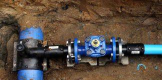 Przyłącze wodociągowe PE63- zasuwa DN50, włączenie do sieci PE160