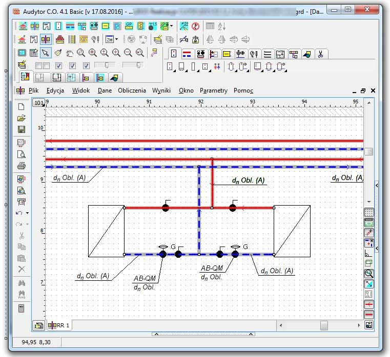 Program do projektowania instalacji sanitarnych (pakiet dwóch programów do projektowania instalacji grzewczej i wodociągowej): Audytor C.O. 4.1