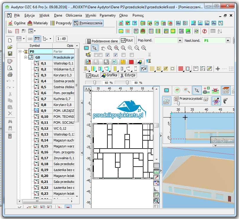 Program do obliczania zapotrzebowania na ciepło budynków. Audytor OZC 6.7.