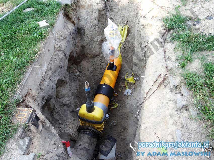 Budowa sieci gazowej - zasuwa odcinająca do gazu DN300