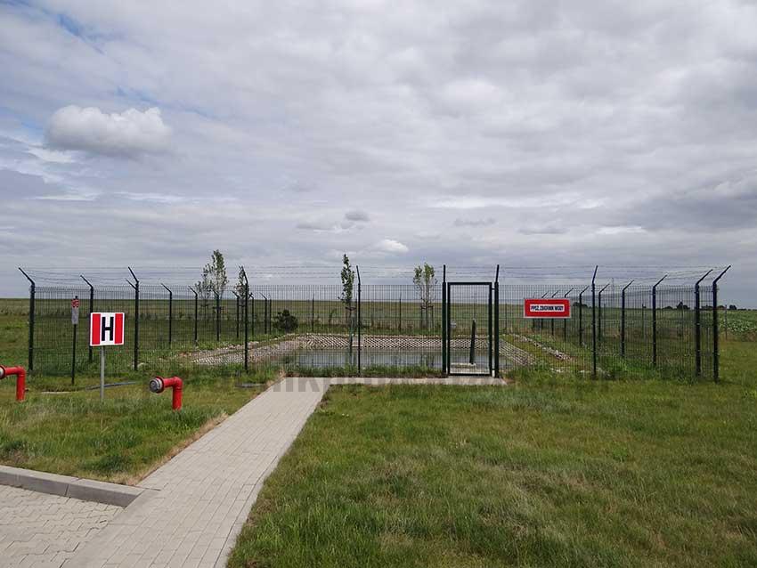 Zbiornik powierzchniowy przeciwpożarowy zlokalizowany przy miejscu obsługi pojazdów (MOP) autostrady A2
