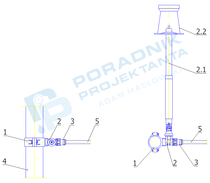 Włączenie przyłącza domowego z rur PE dn32 do sieci wodociągowej z rur PE/PVC dn160