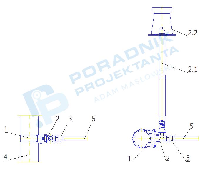 Włączenie przyłącza domowego z rur PE dn32 do sieci wodociągowej z rur żeliwnych i stalowych DN150