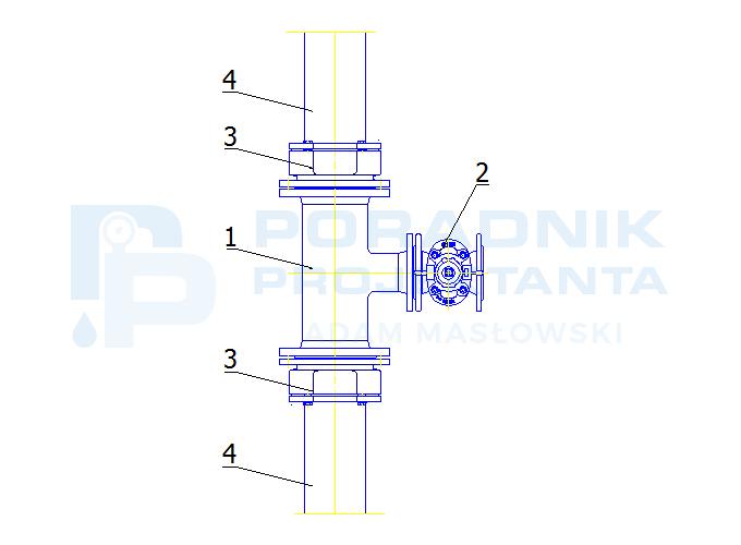 Odgałęzienie od sieci z PE dn160 do hydrantu DN80