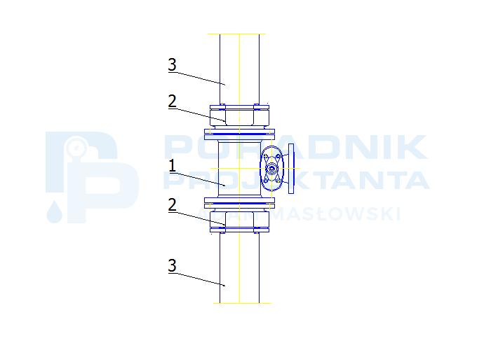 Odgałęzienie od sieci z PE dn160 do hydrantu DN80 z armaturą Hawle Combi-T