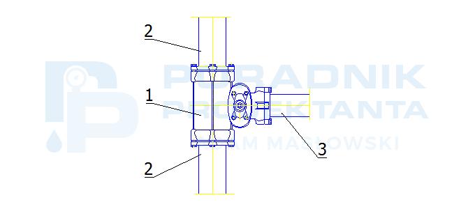 Odgałęzienie od sieci z PE dn110 do hydrantu DN80 na bazie elementów Hawle System 2000