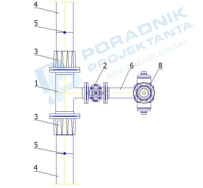 Podłączenie hydrantu nadziemnego DN80