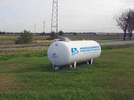 Minimalne odległości zbiorników na gaz płynny na stacji LPG