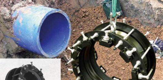 Łączniki do rurociągów dużych średnic Fabryki Armatury Hawle
