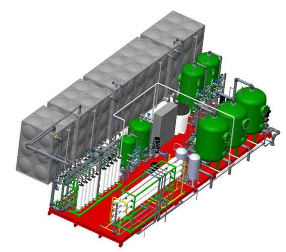 Przykład wykorzystania programu Solidworks do modelowania instalacji technologicznych wewnątrz obiektów