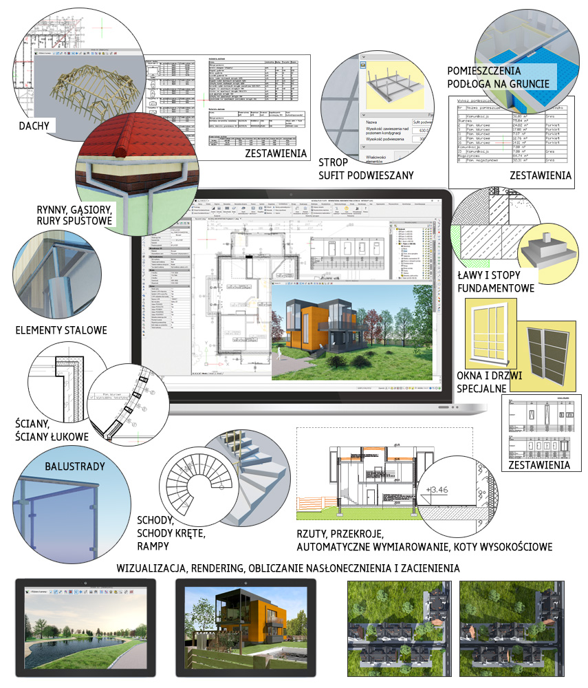 Detale architektoniczne w programie ArCADia