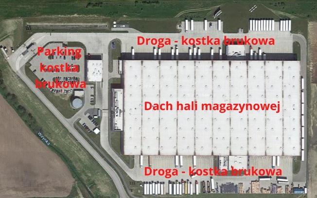 Zdjęcie 1. Przykładowe zagospodarowania terenu hali magazynowej. Źródło: maps.google.pl