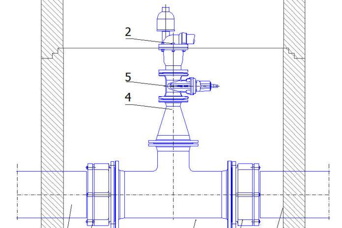 Przykłady zabudowy zaworów napowietrzająco – odpowietrzających w dwg Auto CAD
