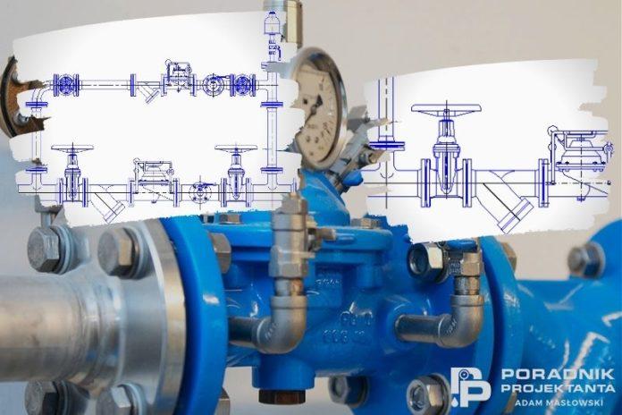Przykładowe rysunki montażowe zaworów regulacji ciśnienia w dwg Auto CAD